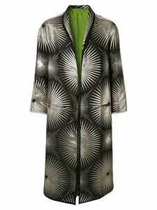 Haider Ackermann foil print coat - Black
