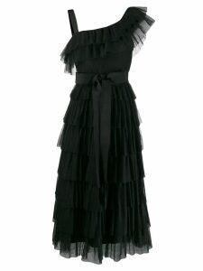 Red Valentino layered frill dress - Black