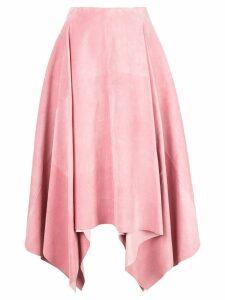Salvatore Ferragamo asymmetric midi skirt - Pink