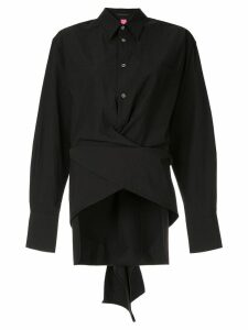 Y's wrap waist shirt - Black