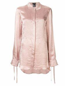 Ann Demeulemeester pleated bib shirt - Pink
