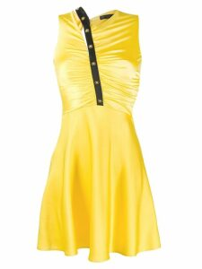 Versace ruched front dress - Yellow