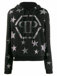 Philipp Plein crystal star hoodie - Black