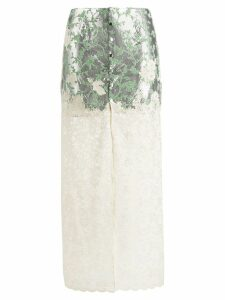 Paco Rabanne floral lace skirt - Metallic