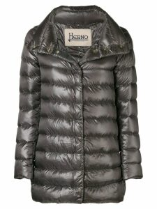 Herno funnel-neck padded coat - Grey