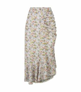 Freida Ruched Midi Skirt