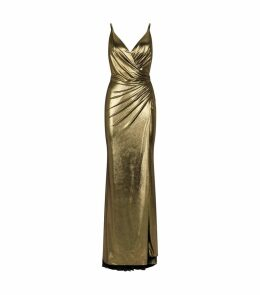 Metallic Drape Gown