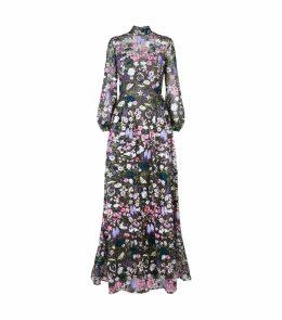 Floral Diamanté Gown