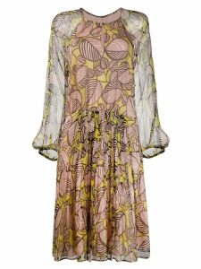Luisa Cerano floral print dress - Neutrals