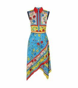 Farrah Scarf Print Dress