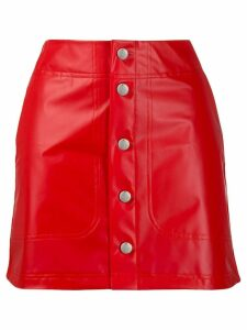 Adidas buttoned fitted skirt - Red