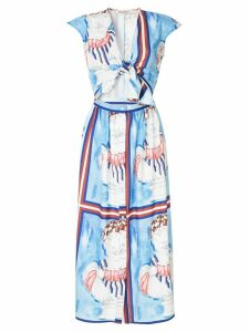 Tata Naka printed midi dress - Blue