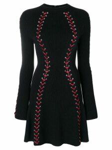 Alexander McQueen bouclé knit mini dress - Black