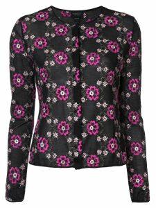 Giambattista Valli floral embroidered top - Black