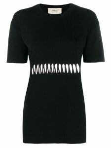 Ports 1961 cut out T-shirt - Black