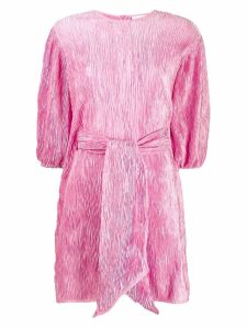 Ganni tie fastened shift dress - Pink