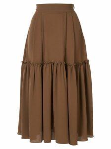 Edeline Lee Muller midi skirt - Brown