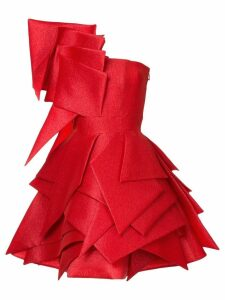 Isabel Sanchis asymmetric origami cocktail dress - Red