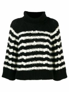 Red Valentino cable knit jumper - Black
