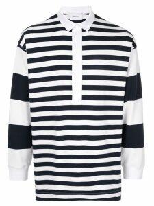 Ports V striped polo shirt - White