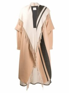 Dorothee Schumacher fringed cardi-coat - Neutrals