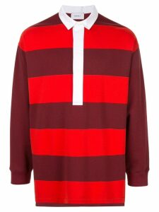 Ports V striped oversized polo shirt - Red
