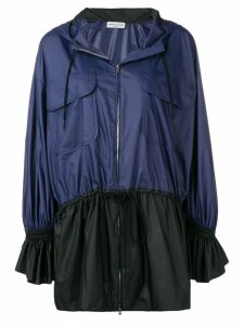 Sonia Rykiel two-tone hooded coat - Blue