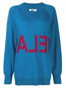 Mm6 Maison Margiela oversized sweater - Blue
