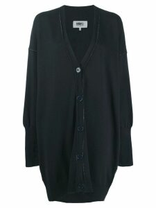 Mm6 Maison Margiela oversized cardigan - Blue