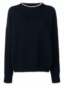 Marni ribbed fine knit sweater - Blue