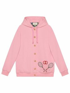 Gucci embroidered hoodie - Pink