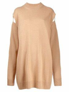 Maison Margiela loose jumper dress - Neutrals