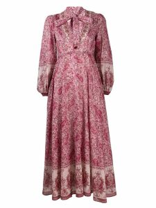 Zimmermann paisley print flared dress - Pink