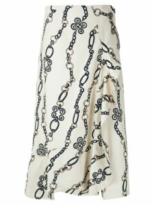 Framed Chain midi skirt - Neutrals