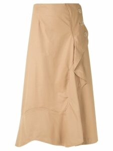 Framed midi skirt - Neutrals