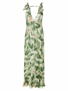 Adriana Degreas silk maxi dress - Green