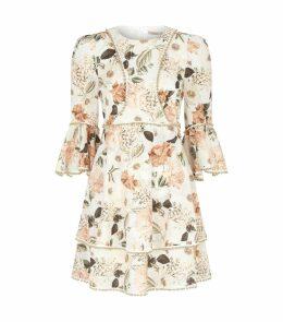 Ruse Flare Sleeve Floral Dress