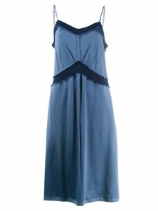 Mm6 Maison Margiela exposed hem midi dress - Blue