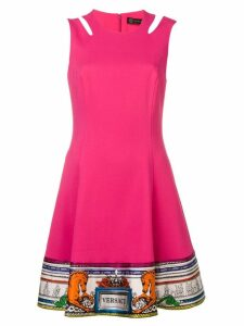 Versace logo trim dress - Pink