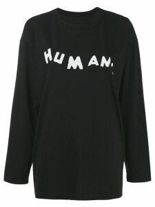 Mm6 Maison Margiela Humans jersey top - Black