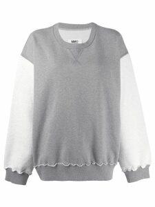 Mm6 Maison Margiela oversized contrast sweater - Grey