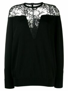 Givenchy lace panel sweater - Black