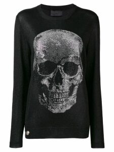 Philipp Plein embellished skull jumper - Black