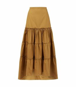 Cotton Tiered Skirt