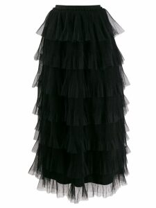Red Valentino ruffle tulle skirt - Black