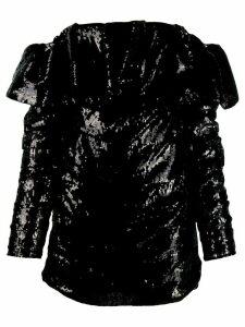 Attico off the shoulder sequin dress - Black