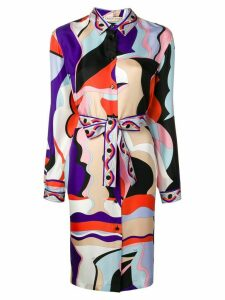 Emilio Pucci Vallauris Print Shirt Dress - Purple
