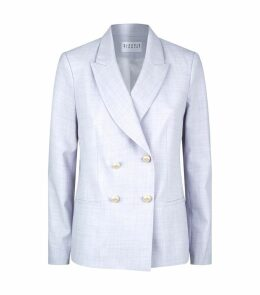 Pearlescent Double-Breasted Blazer