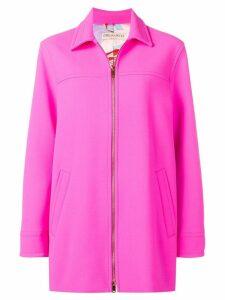 Emilio Pucci Zipped Virgin Wool Coat - Pink