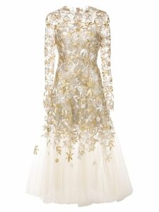 Oscar de la Renta sheer-styled ballet dress - Gold